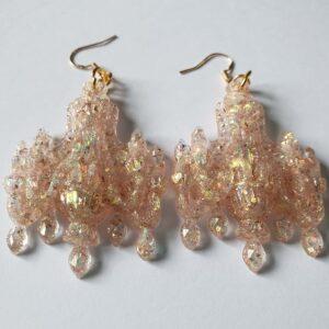Sandstorm Glitter Chandelier Earrings