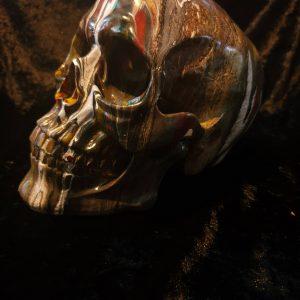 Hand Painted Resin Skull No. 4