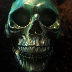 Hand Painted Resin Skull No. 5